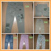 3x kalhoty džíny podšité 116 5/6 let  pro hubené, next,116
