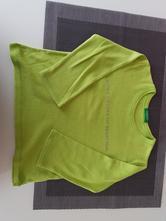 Dětské zelenkavé/hráškové triko benetton vel. 80, benetton,80