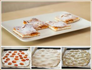 Tvarohový koláč ze špaldy a ovesných vloček s meruňkami