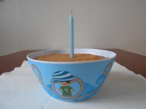 Ovocný dortýček pro Samuelka:)