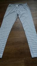Pruhované legíny/spodek od pyžama, h&m,146