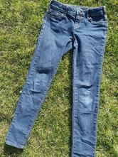 Tmavé rifle/džíny s regulací v pase, c&a,152