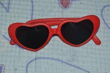 Červené sluneční brýle, sdíčkové, 1-3 roky, tesco,