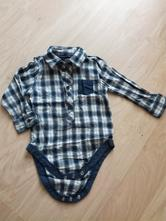 Kostkovaná košile-body zn. early days, vel. 80, early days,80