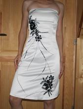 Bílé šaty s černým vyšíváním vel 36, 36