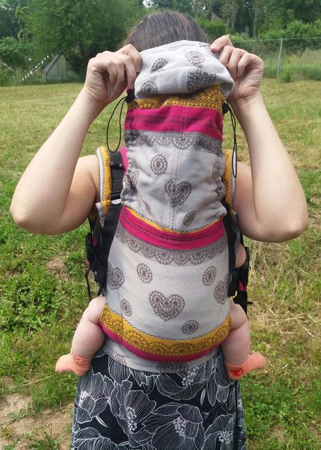 Nosítko lennylamb baby ze šátku ll coffee lace, lennylamb