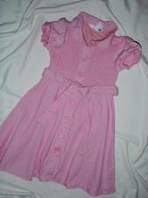 Luxusní růžové propínací šaty, h&m,98