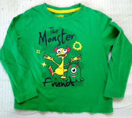 P35 - zelené tričko monster , lupilu,98