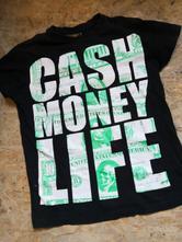 Tričko peníze vel  s, fishbone,s
