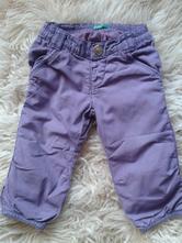 Kalhoty benetton s podšívkou, benetton,74