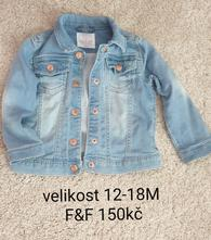 Riflová bunda dívčí, f&f,92