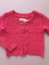 Růžový svetr na knoflíky, h&m,116