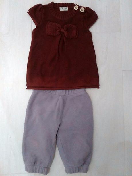 Komlet tuniky a flisovych kalhot, next,74