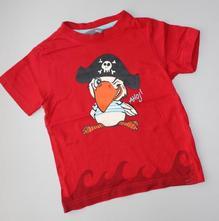 Červené tričko s pirátem, h&m, 92-98, h&m,92