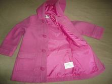 Krásný flaušový kabát bpc, vel. 104/110, 110