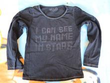 Černé tričko s barevným prošíváním 110/116, girl2girl,110