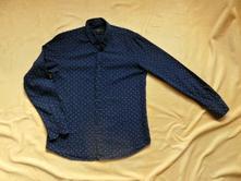 Tmavě modrá košile vzorovaná reserved dlouhý rukáv, reserved,m
