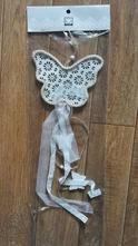 Závěsná dekorace girlanda motýl  - plechový,