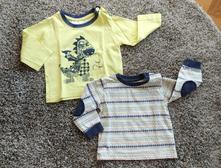 2x tričko / triko dlouhý rukáv, matalan,80