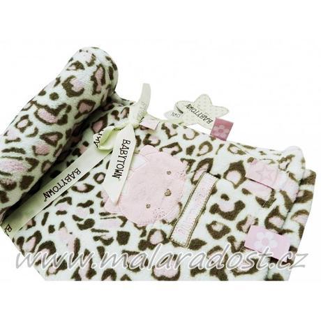 Dívčí deka babytown, gepard,