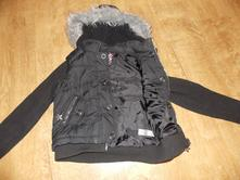 Černá bunda s kapucí, george,140