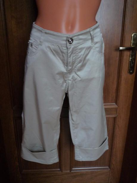 Lesklé 3/4 kalhoty, 42