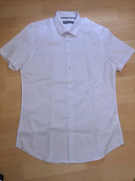 Košile pánská bílá s puntíky angelo litrico, c&a,m