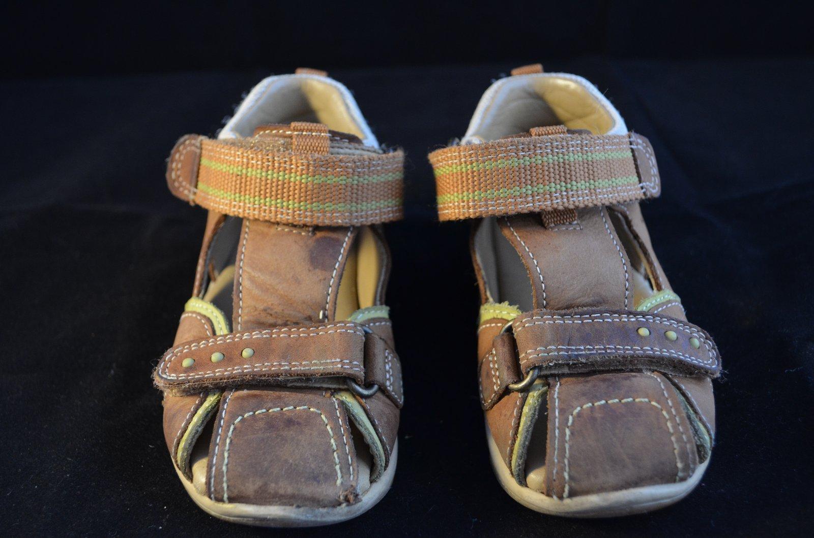 Chlapecké kožené sandály - zn.