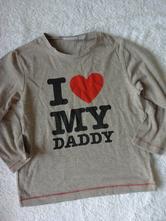 Tričko i love daddy, next,104