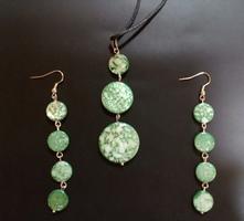 Set náušnice, náhrdelník kolečka,