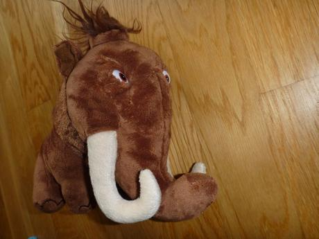 Plyšový mamut z doby ledové,