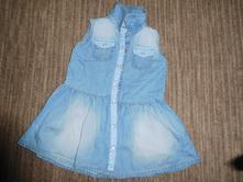 Nádherné riflové šaty bez rukávů, f&f,80