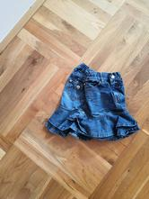 Džínová sukně s kanýrky 4-5let, 110
