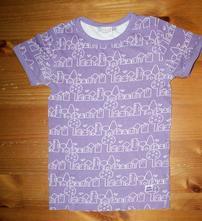 Kvalitní bavlněné triko fialové kaxs, 122