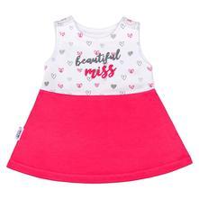 Kojenecké šaty bez rukávů new baby růžové, new baby,62 / 68 / 74 / 80 / 86