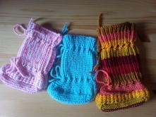 Pletené botičky/ponožky do šátku,