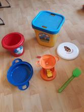 Hračky na sníh, do vody i na písek-kyblík, mlýn,