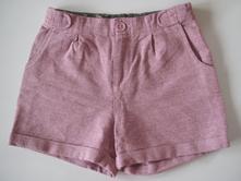 Růžové šortky třpytivé (na podzim/zimu/jaro), h&m,128