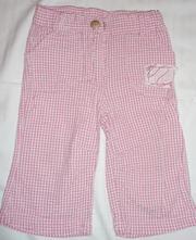 Kalhoty ze silnějšího krepu, kostkované, topolino,68