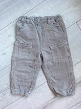 Manšestrové zateplené kalhoty, baby club,80