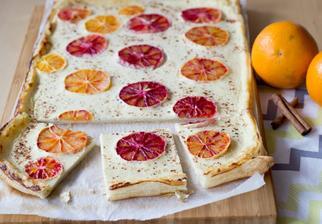 Listový koláč se smetanou a pomeranči