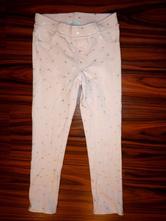 Pěkné růžové legínové kalhoty s hvězdičkama, h&m,122