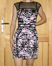 Různobarevné společenské šaty vel 38, 38