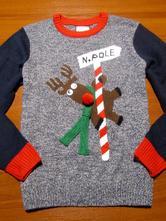Nádherný vánoční svetr vel l, l