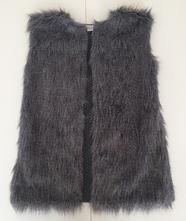 Pletená vesta s umělým kožíškem, primark,158