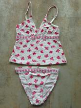 Něžná prádlová souprava top motýlci  vel. 36-38, b, s