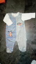 Sametkové dupačky s tričkem, ergee,68