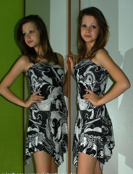 Letní cípaté šaty pro slečnu cca + 13 let, 164