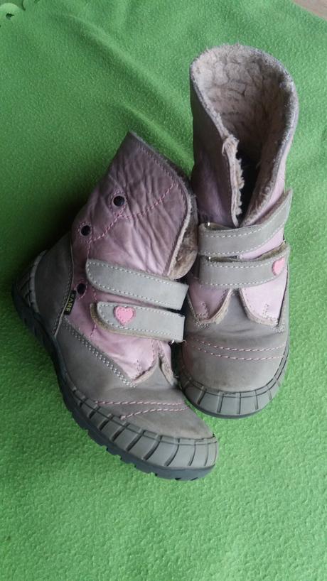 Zimní kožené boty, fare,27