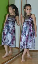Slavnostní sváteční společenské saténové šaty, monsoon,122